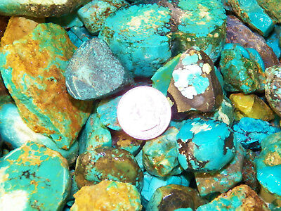2000 Carat Lots of Old Stock Kingman, AZ Turquoise  Rough - VERY HIGH END