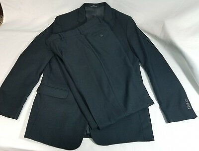 Boys Calvin Klein Navy Blue Dress Suit with Jacket 18R and Pants 16R