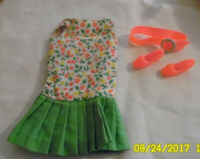Vintage Barbie's Cousin Francie's Slightly Summery With Shoes And Belt in GUC