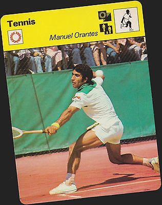 1978 Manuel Orantes Sportscaster Card #03 005 33-06 A Printing Mint From Cello