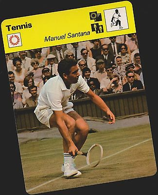 1979 Manuel Santana Sportscaster Card #03 005 71-11 A Printing Mint From Cello