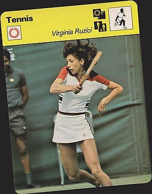 1979 Virginia Ruzici Sportscaster Card #03 005 71-06 A Printing Mint From Cello