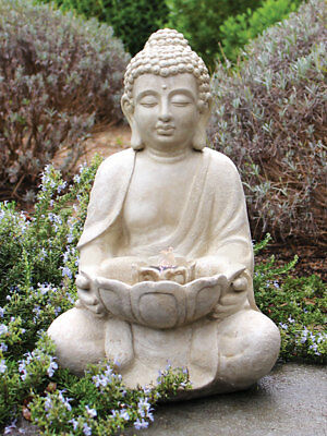 Traditional Oriental Lotus Buddha Outdoor Water Feature Fountain Kit + Pump +WTY