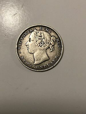 *Newfoundland* 1890 Queen Victoria 20 Cents Low Mintage