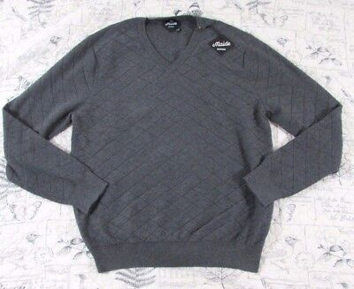 NWT BONOBOS Maide Men's 100% COTTON Gray V neck sweater Large L