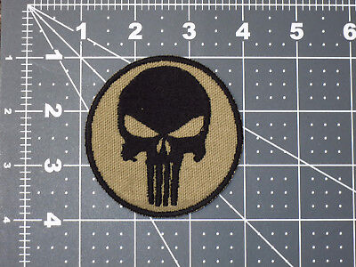 Navy Seal The Punisher Logo Flat Dark Earth Fde Tan Brown Military Marine Patch