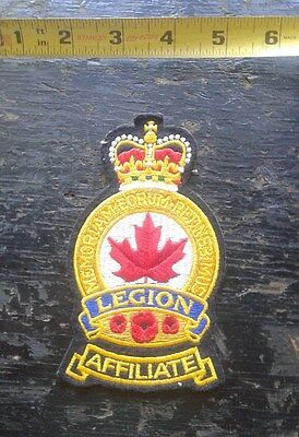 Royal Canadian Legion Affiliate Sew on Patch Queens Crown