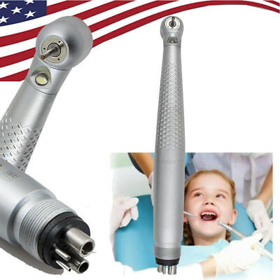 US-Dental LED High Speed Handpiece Standard Push Button wrench Ceramic 3W 4 Hole