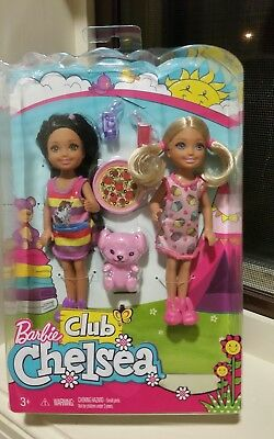 Barbie Club Slumber Party Chelsea Dolls & Accessories (2 Pack)