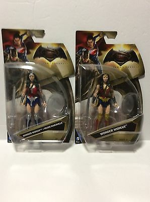 """Lot Of 2 DC Down Of Justice 6"""" Wonder Woman In Gold & Silver Armor Action Figure"""