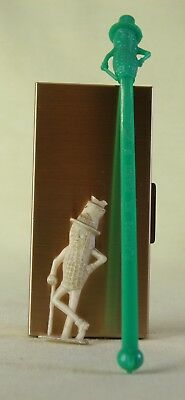 Mr Peanut by Planters Green Six Inch Drink Stirrer and Glow in the Dark Figure