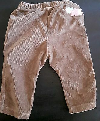 Baby Infant Toddler Boy Girl Clothes Brown Corduroy Pants   3-6months ZARA