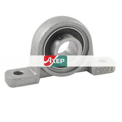 15mm Inner Dia Stainless Steel Self-adjust Pillow Block Ball Bearing Silver Tone