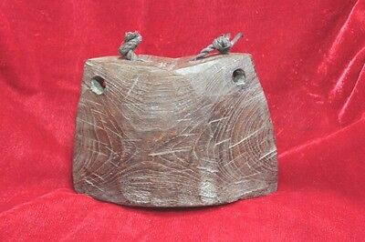 Antique Vintage Style Wooden Finish Cowbell Collectible PU-90