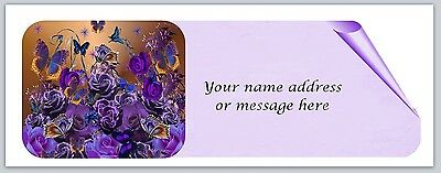 30 Personalized Return Address Labels Butterfly Buy 3 get 1 free (bo 838)