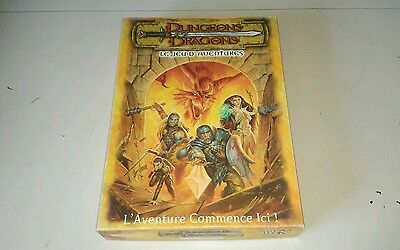 D&D 3rd Ed Dungeons & Dragons Adventure Game Box VG FRENCH FRANCAIS