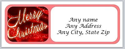 30 Personalized Address Labels Christmas Buy 3 get 1 free (ac 149)