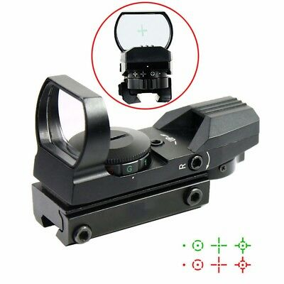 Tactical Holographic Reflex Red/Green Dot Sight 4 Reticle w/ 11mm Dovetail Mount