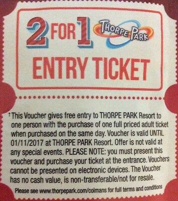 2 for 1 thorpe park vouchers