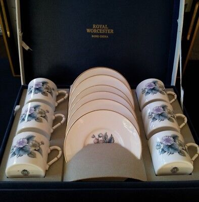 Royal Worcester 12Pc Coffee Set C1950S Boxed