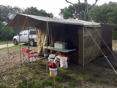6x4 Outback on road CAMPER TRAILER with full annex & beds. Compact & easy to use