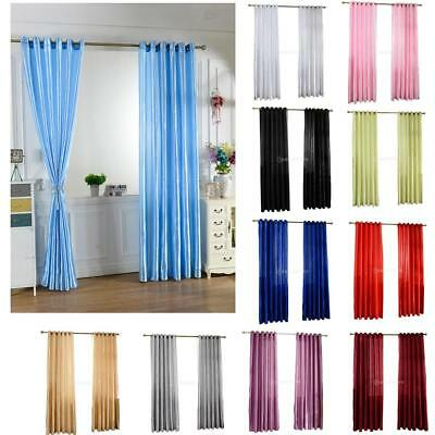 Satin Tulle Door Window Curtain Drapes Panel Valance Dividers Xmas Window Decor