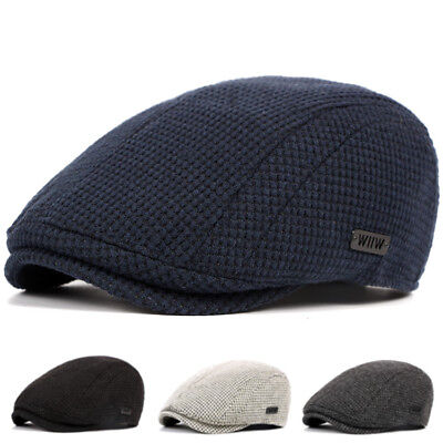 Unisex Men's Cotton Gatsby Cap Golf Driving Flat Cabbie Beret Newsboy Hats