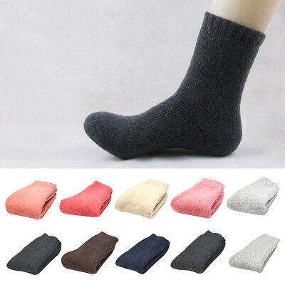 Unisex Womens Mens Soft Thick Thermal Cashmere Casual Wool Warm Winter Socks