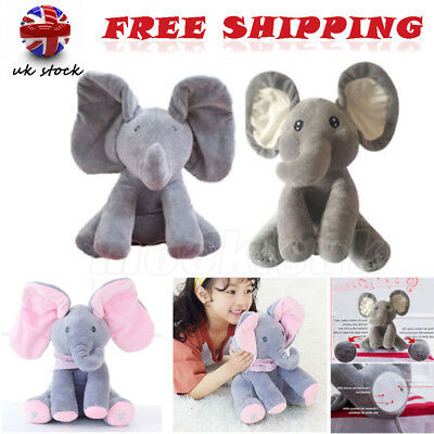 Peek-a-boo Elephant Singing Baby Plush Toy Stuffed Animated Soft Toy Kids Gift