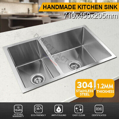 1080X480mm Stainless Steel 1+3/4 Bowl Right Drainer Board Kitchen Sink Top Mount