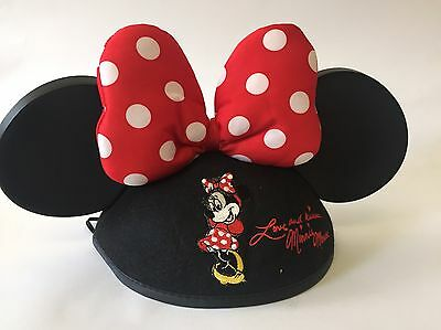 Minnie Mouse Ears Hat Disneyworld Polka Dot Bow