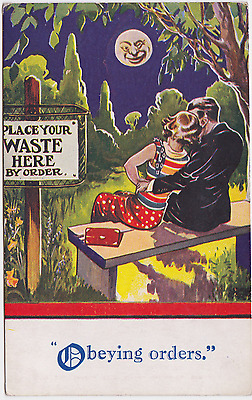 Old Postcard - Obeying Orders