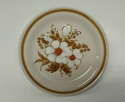 Vintage Mountain Wood Collection Stoneware Dried Flowers Bread & Butter Plate