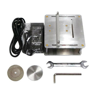 Precision Mini Table Saw DIY Cutter Cutting Machine for Model Making w/ Adapter