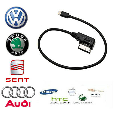 AMI MMI MDI MEDIA Interface iPhone 7 Plus Charge Adapter Cable for Audi VW SKODA