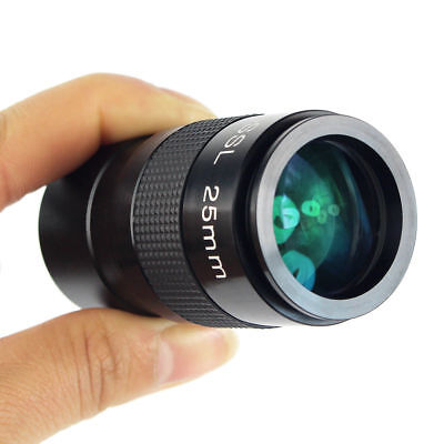 """Plossl 25mm Eyepiece Multicoated for Astronomical Telescope 1.25""""(31.7mm) Barrel"""