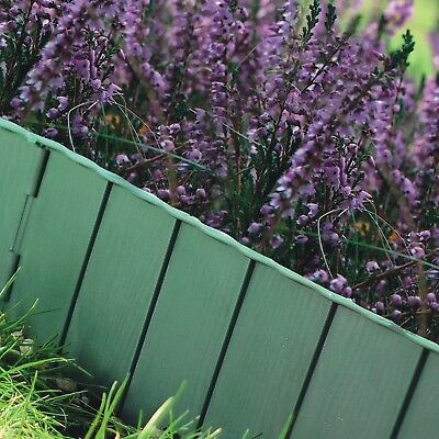 5.9m GREEN Garden Grass Lawn Border Edging Edge Fencing Palisade /Frost Proof