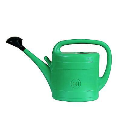 Garden Watering Can 14lt 3 gallon plastic with rose diffuser head 14 litre 14L