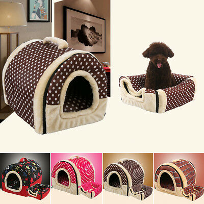 Warm Soft Pet House Couch Mat Kennel Bed Cushion Puppy Dog Cat Sofa Winter Pad