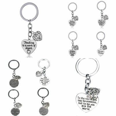 Hollow Heart Keyring Key Chain Mother Daughter Grandma Teachar Love Xmas Gift