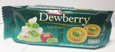 Dewberry Cookies With Cream Thai Snack Kiwi Apple Flavor Jam Yummy Food 36 G
