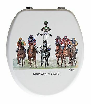 Looprints Turfclub Racing Novelty Toilet Seat LPJ308