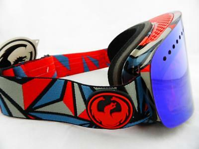 Dragon NFX Frameless Snow Goggles Structure - Blue Steel + Yellow Red Ion Lens