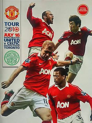 Manchester United v Celtic 16/7/2010 Rogers Centre Toronto Mint. VERY RARE.