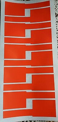 40x Cable labels,network cable electric cable markers tear proof, red ,writable