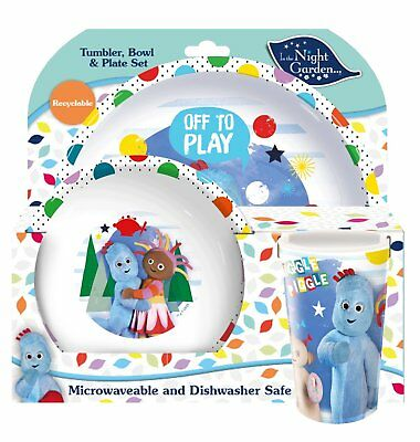 In The Night Garden Plate Set Iggle Piggle Upsy Daisy