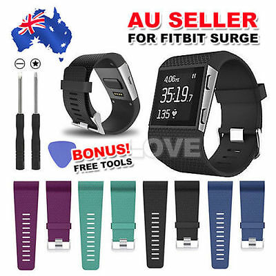 Replacement Band Silicone Wrist Strap Wristband For Fitbit Surge Tracker L/S