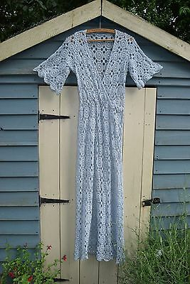 Boho cotton lace festival dress 70s s 8 4 6 10 free maxi people spell kaftan