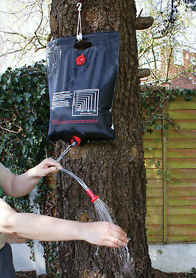 Leisurewize Portable Travel Camping Outdoor 20L Solar Heated Water Shower Bag