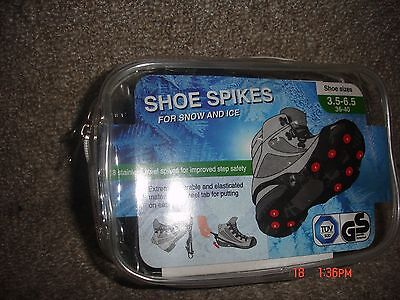 1 pair of snow and ice grippers - for shoe sizes UK 7 - 11